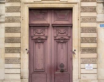 France, Paris, purple door, vintage, Paris photography, door, large wall art print, Paris print, Paris decor, fine art #039