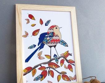 D coration murale oiseau etsy fr for Decoration murale oiseau 3d
