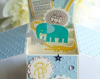 Baby Blue&Brown Birthday Card