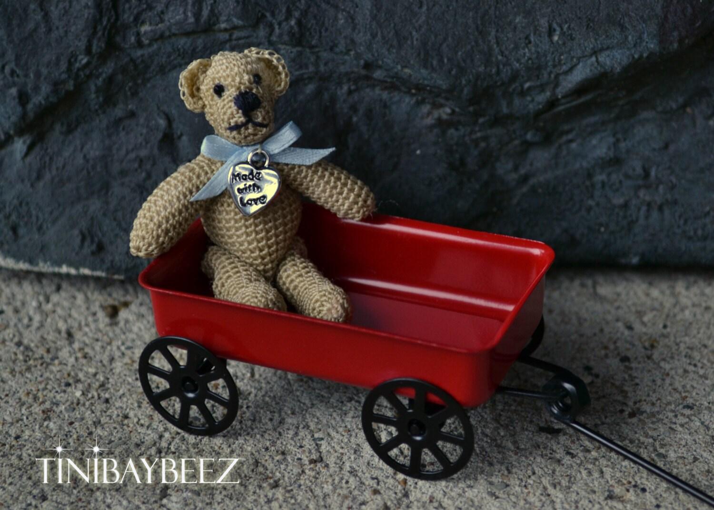 Amigurumi Mini Bear : Mini Crochet Amigurumi Teddy Bear Collectible