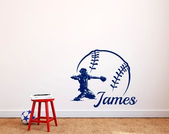 Sports Name Decal Etsy - Custom vinyl wall decal equipment
