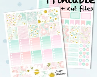 Birdcage Kit with JPEGs and Silhouette Cut Files / Printable Planner Stickers / Erin Condern Vertical Life Planner