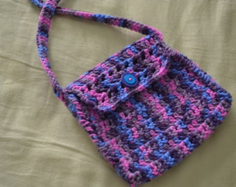 Handmade crocheted colorful little purse