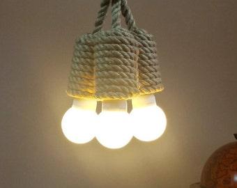 "Jute pendant light made from sailing rope, 40cm (~16"") , rustic light, industrial lighting, loft lighting, lighting fixture, nautical lamp"