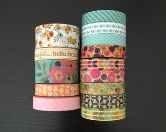"CLEARANCE! 24"" SAMPLES of Recollections washi tape (M60)"