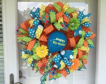 Birthday Celebration Wreath