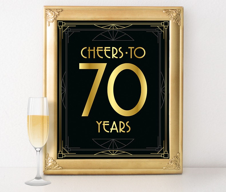 Birthday party decor cheers to 70 years birthday sign 70th for 90th birthday decoration