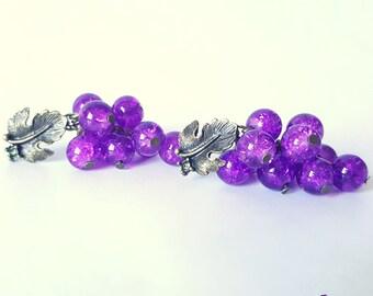 Small clusters / bunches earrings / earrings grape / purple earrings