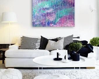 Abstract Sea Painting Canvas Art, Original Painting, Modern Abstract Painting, Abstract Art