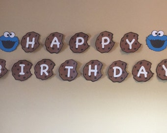 Sale! Cookie Monster Birthday Banner