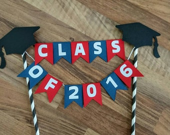 Graduation cake bunting, Class of 2016, Graduation Cake Topper, Green and Purple, Cake topper, High School, University, Primary School
