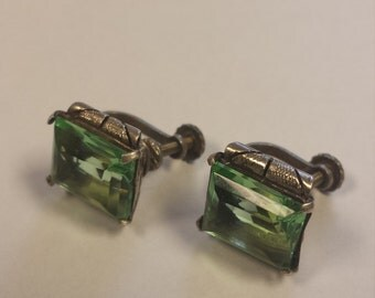 Vintage Sterling Silver .925 Screw Back Earrings