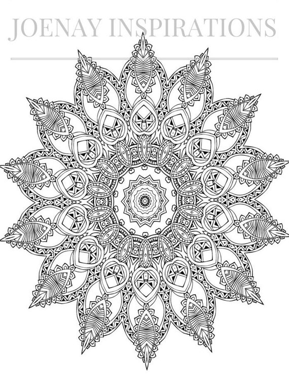 Adult Coloring Book, Printable Coloring Pages, Coloring Pages, Coloring Book for Adults, Instant Download Magnificent Mandalas 2 page 8