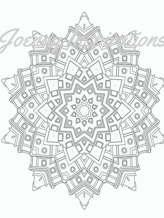 Adult Coloring Book, Printable Coloring Pages, Coloring Pages, Coloring Book for Adults, Instant Download Magnificent Mandalas 3 page 6
