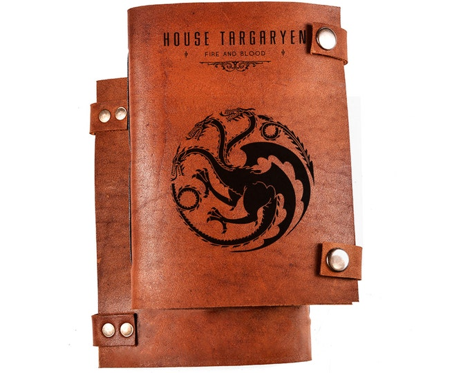 House Targaryen notebook - House Targaryen journal - Game of thrones houses - Game of thrones journal - Game of thrones merch