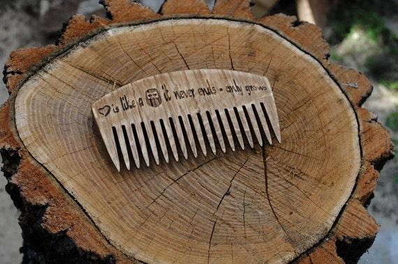 mens comb Beard comb custom comb personalized comb by WoodCarv