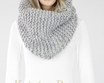 Seattle Cowl Pattern #14 - Knit Scarf Pattern - Instant Download PDF- Knitting PATTERN - Two Sizes