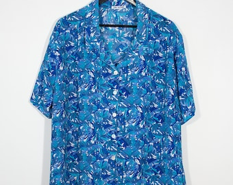 Shirt blue jungle