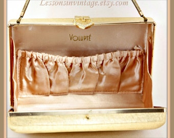 Vintage Evening Clutch, Vintage Volupté Evening Clutch, Vintage Evening Bag, Vintage Box Purse, Vintage Volupté Handbag, Volupté Box Purse