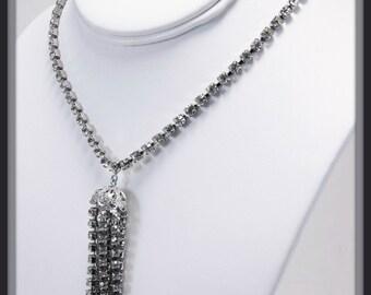 Vintage Weiss Necklace, Vintage Rhinestone Necklace, Vintage Jewelry, Vintage Jewellery, Vintage Weiss Jewelry, Vintage Costume Jewelry