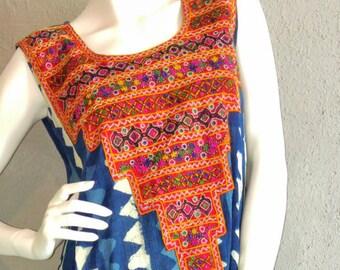 Indigo wax dyed Dress