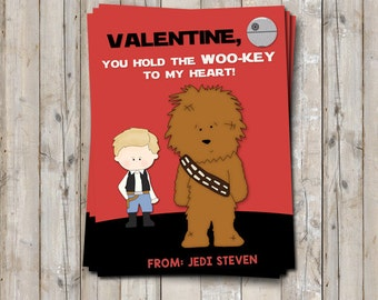 Perfekt Star Wars Valentine Card Personalized With Your Childu0027s Name   Featuring  CHEWBACCA   Printable / Digital