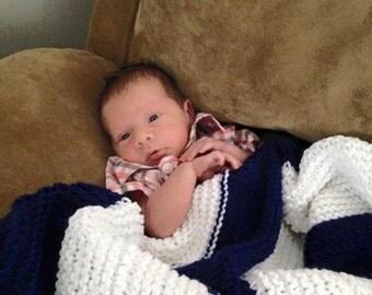 Knit Baby Blanket_Boy_the Everett