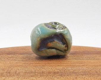 Ceramic Handmade Rabbit Flower Focal Pottery Bead