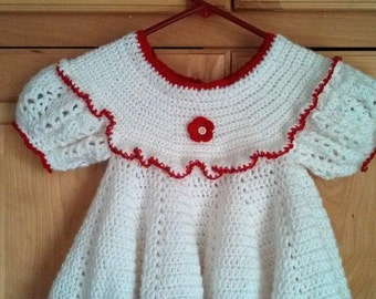 Crocheted 9 month baby dress