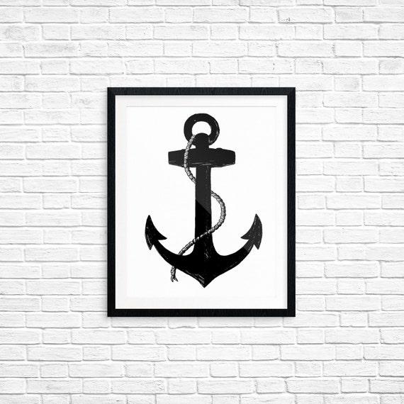 Printable Art, Anchor, Spiritual Symbol Art, Home Decor, Art Printable, Digital Download Print