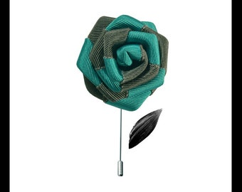 """""""JUST A LITTLE FLOWER"""" turquoise/Black Hat-pins"""