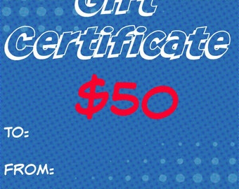 50 Dollar Gift Certificate - Gift Card For Sew Geeky NJ - SewGeekyNJ - Sewn in NJ - Ready to Ship