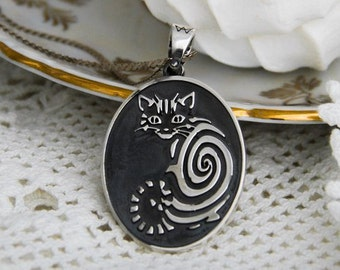 Handmade cat  medallion