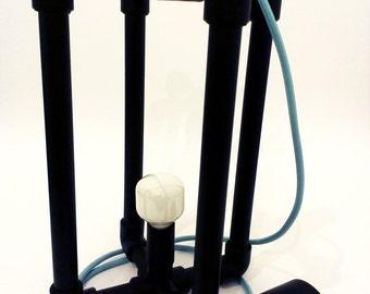 industrial/ chandelier / pipe / black / matt / y_lamp