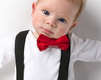 Mr Oscar - Adjustable Baby / Toddler Suspenders and Bow tie Set