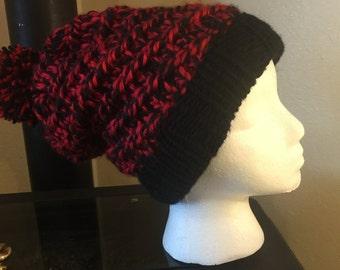 Red & Blck Stocking Hat