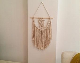 macrame wall hanging, boho home decor, tissage mural, macrame tapestry, woven wall hanging, macrame wallart, wall tapestry