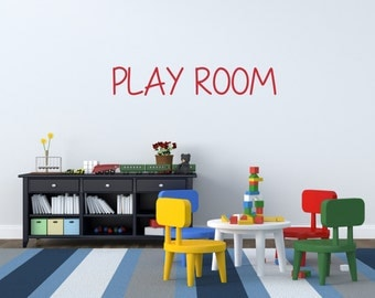 Play Room Wall Decal Wall Decor Wall Sticker Vinyl Decal