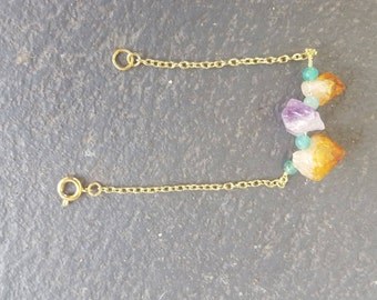 Yellow Citrine and Amethyst Bracelet