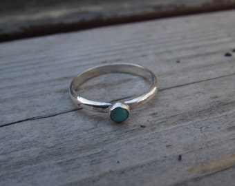 Amazonite Sterling Silver Stack Ring