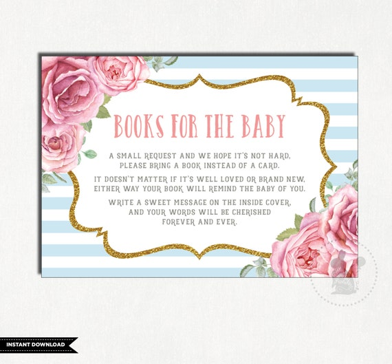 Vintage Baby Shower Bring A Book Instead Of A Card Books For Baby