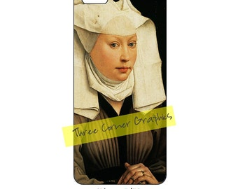 Fine art iPhone 5 printable case design (Portrait of a Young Woman, van der Weyden); DIY print at home iPhone accessories for 5, 5S, or SE