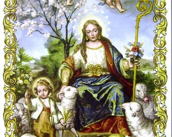 Divina Pastora tile
