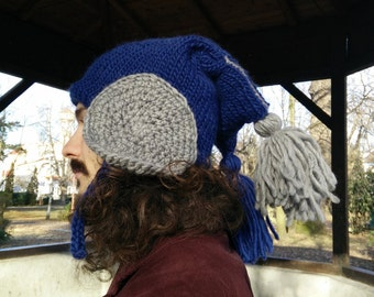 Knit Hat Blue Cloud