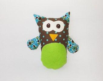 OWL plushie / softie / baby toy-rag OWL