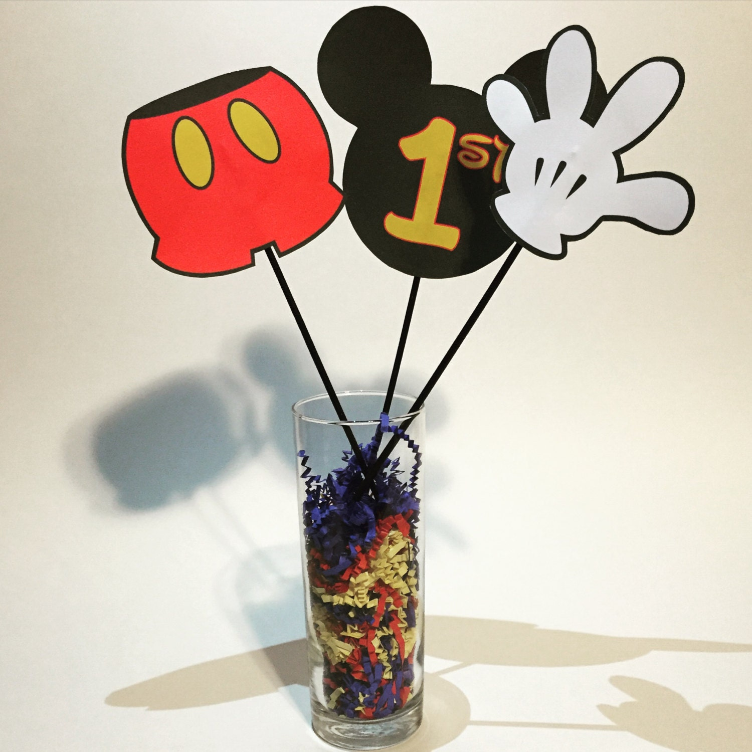 Mickey Mouse Centerpiece Cutouts Printable