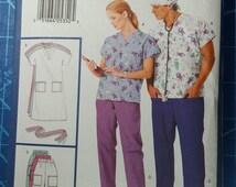 Butterick 4946 Size L, XL, Nursing Scrubs Sewing Pattern, Dress, Belt, Top, Skirt, Pants, Hat, Hairtie, Scrub Hat, Ponytail Holder, Medical