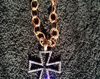 Swarovski Embellished Cross Necklace