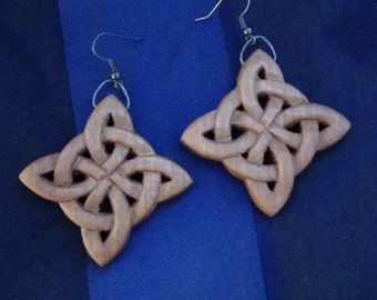 Celtic earrings Wooden pagan Celtic jewelry celtic knot earrings celtic style viking jewelry witch jewelry hand carved wiccan jewelry wicca