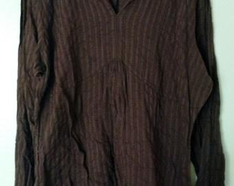 Chestnut Brown Cotton Tunic